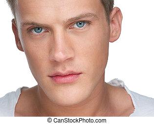Close Up Portrait of a Handsome Caucasian Man
