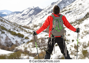 Man hiking achievement