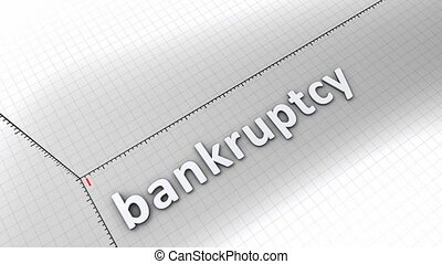 Growing chart - Bankruptcy - Concept animation, growing...