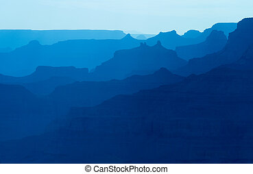 Grand Canyon National Park Silhouette at sunset