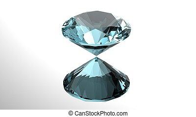 Jewelry gems . sky blue topaz - Jewelry gems roung shape on...
