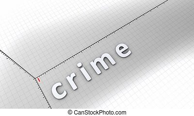 Growing chart - Crime - Concept animation, growing chart -...