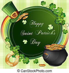 Saint Patrick Day's card - Saint Patrick's Day card with...