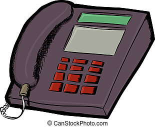 Land Line Telephone - Isolated land line telephone cartoon...