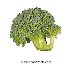 blanco, florete, aislado, contra, bróculi