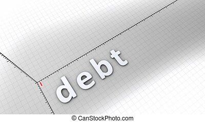 Growing chart - Debt - Concept animation, growing chart -...