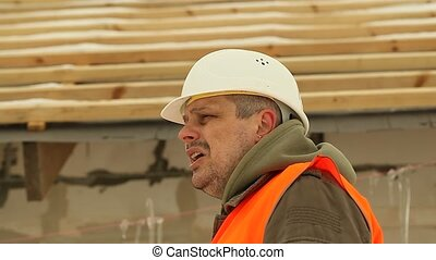 Angry construction manager