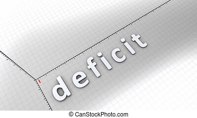 Growing chart - Deficit - Concept animation, growing chart -...
