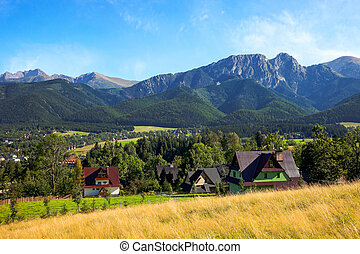 View of Giewont mountain from Gubalowka - Zakopane, Poland
