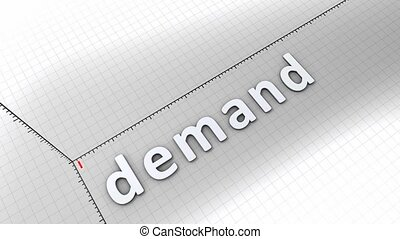 Growing chart - Demand - Concept animation, growing chart -...