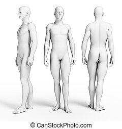 Average guys - 3d rendered illustration of some average guys