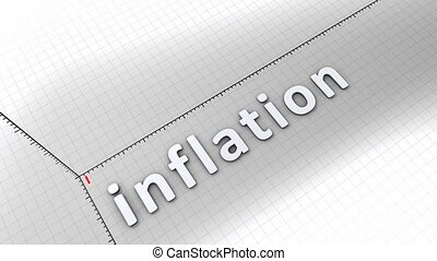 Growing chart - Inflation - Concept animation, growing chart...
