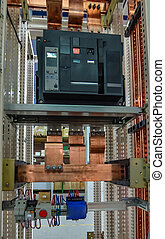 Electrical pannel - Copper busbar and protection componets...