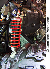 Shock absorbers of ATV car.