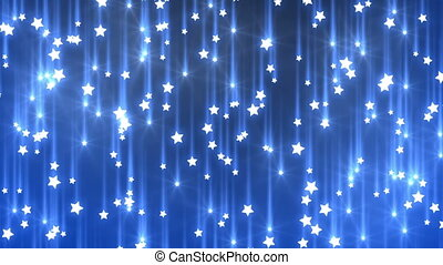 falling stars, seamless looped background