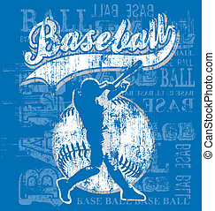 Baseball - illustration for shirt printed and poster