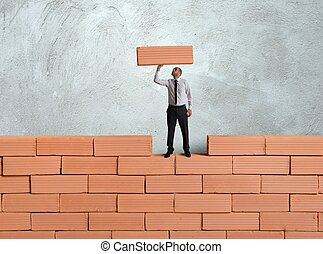 Build a new business - Concept of building a new business