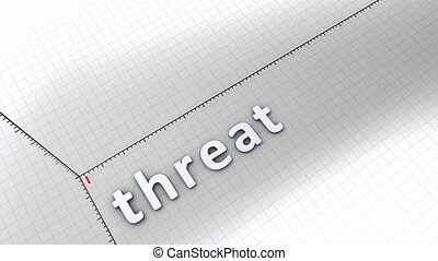 Growing chart - Threat - Concept animation, growing chart -...