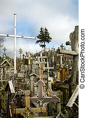 The Hill of Crosses in Lithuania - The Hill of Crosses is a...