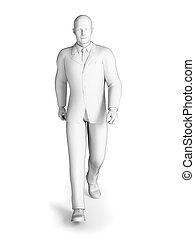Businessman - 3d rendered illustration of a businessman