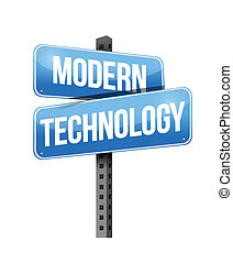 modern technology illustration design over a white...