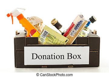 pretas, papelão, doação, caixa,...