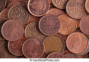 bulk Canadian penny - the Canadian penny has lost its value...