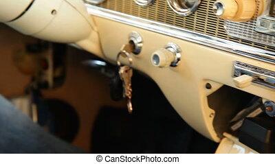 Luxury of a retro car