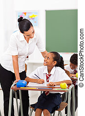 elementary school teacher - friendly female elementary...
