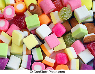 Colorful candy mix - Colorful candy party mix