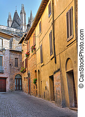 Alleyway. Orvieto. Umbria. Italy.