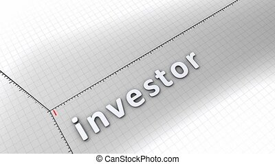 Growing chart - Investor - Concept animation, growing chart...