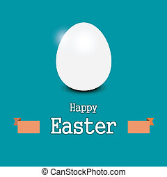 Easter egg - Vector illustration of easter egg with banner