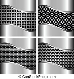 A set of metal backgrounds 3