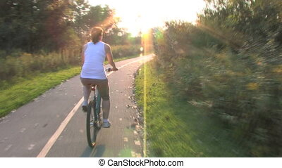 Woman on Bike Ride 1