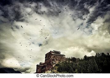 Mine on the Hill - Kennecott Mine in Wrangell-St Elias in...