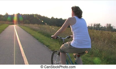 Woman on Bike Ride 2