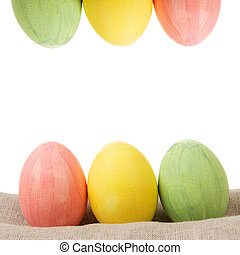 two rows of easter eggs