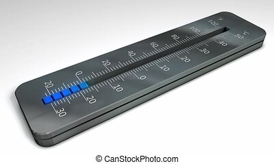 Temperature rising - Thermometer with rising temperature...