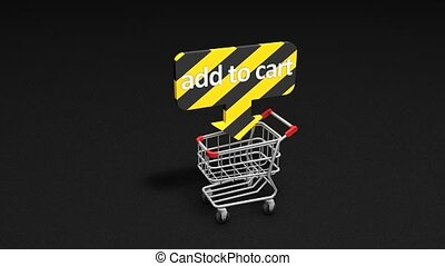 Add to cart - Add to Cart concept animation.