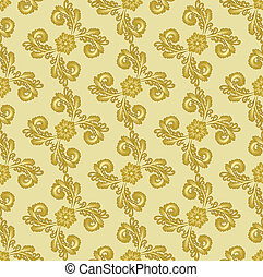 gold pattern with curly leaves