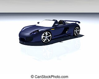 sports car - 3d render of sports car