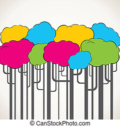 colorful abstract tree
