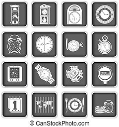 time icons - Collection of different time icons