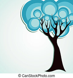 abstract round tree stock vector