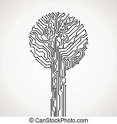 creative electronic tree