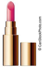 pomade - Vector illustration of lipstick close-up simple...