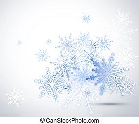 Snowflakes over white background - Abstract interpretation....