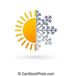 weather forecast icon design - Abstract interpretation....