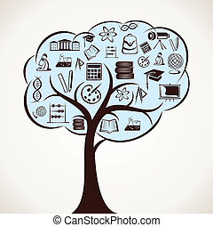 educational icon tree stock vector